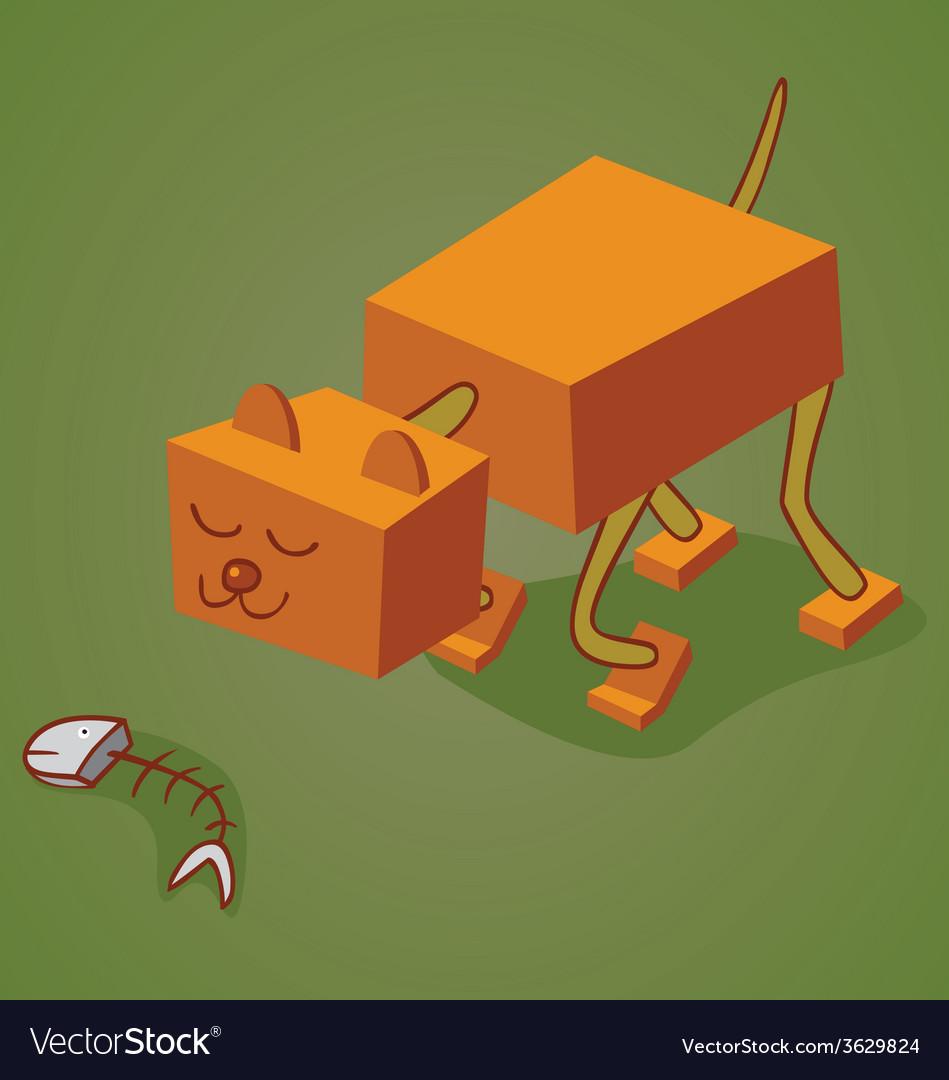 Robotic cat two vector | Price: 1 Credit (USD $1)