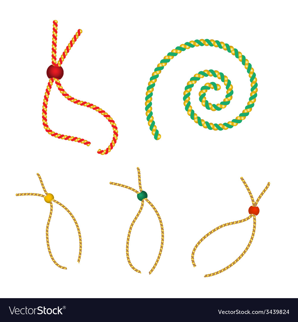 Set of christmas gold strings vector | Price: 1 Credit (USD $1)