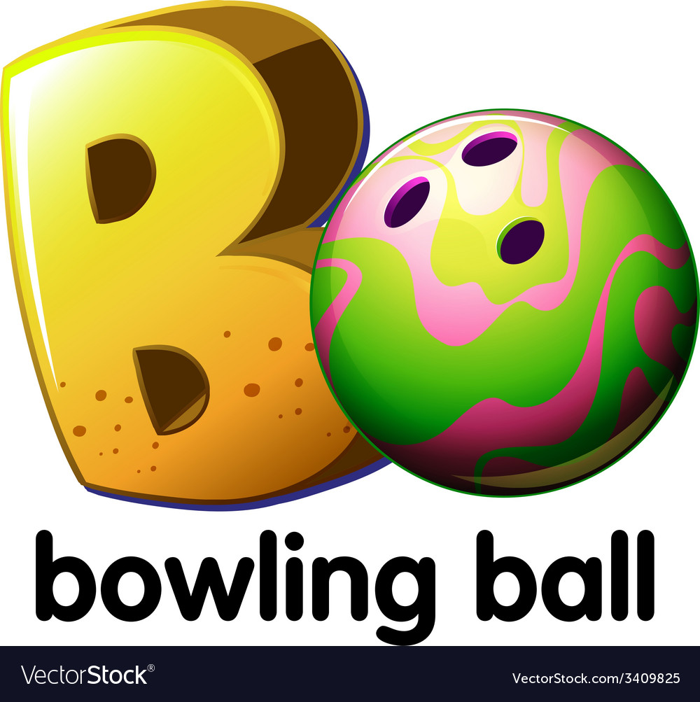 A letter b for bowling ball vector | Price: 1 Credit (USD $1)