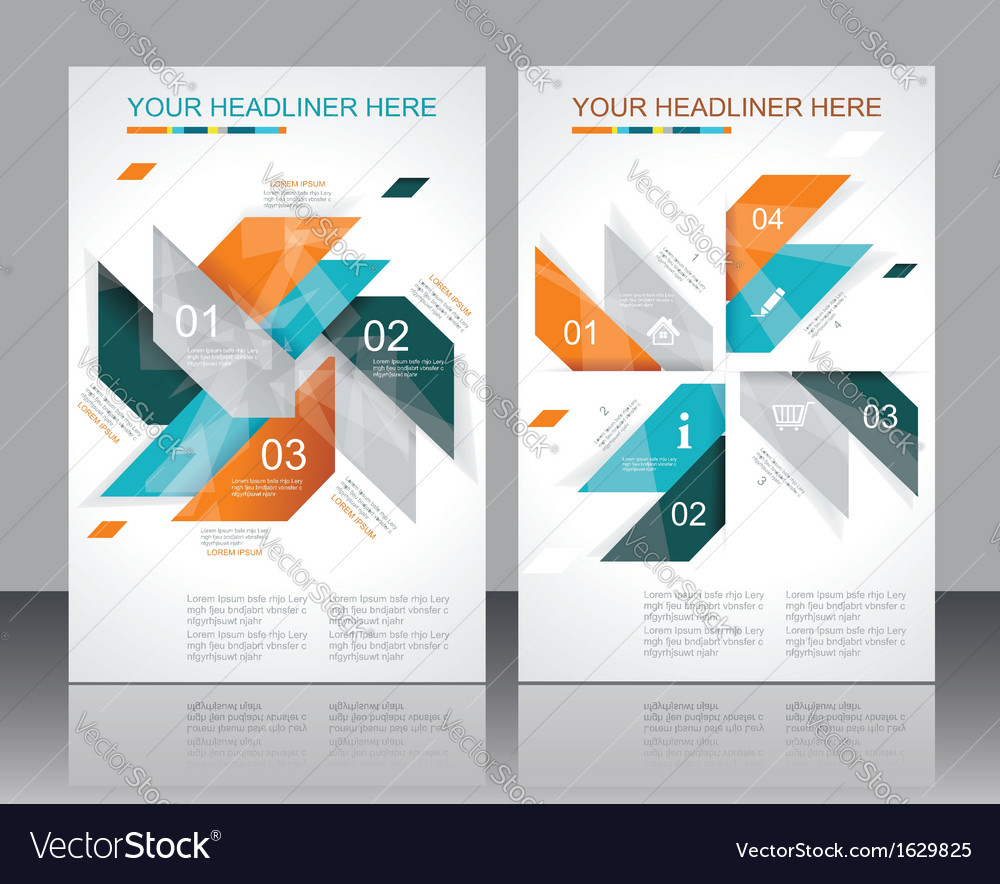 Brochure template design with abstract elements vector | Price: 1 Credit (USD $1)