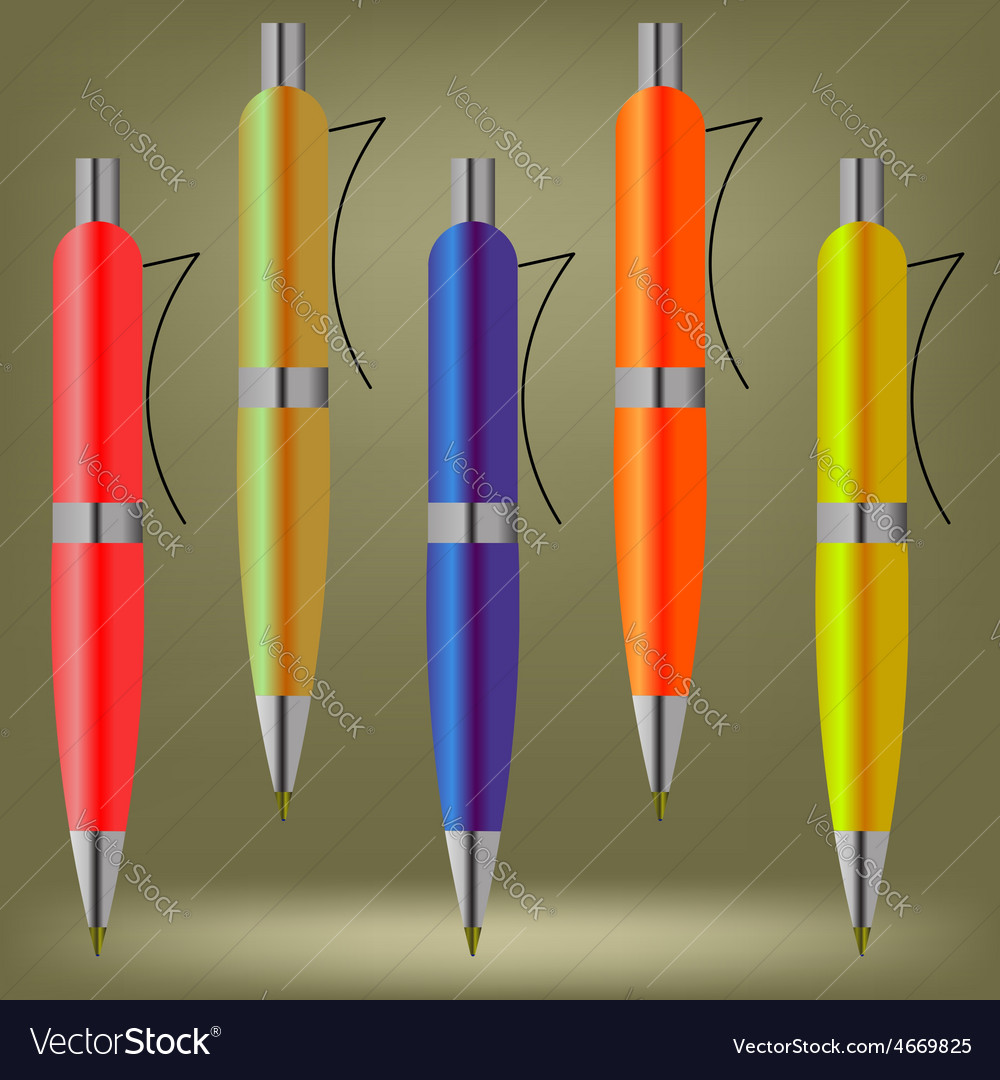 Colorful pens vector | Price: 1 Credit (USD $1)