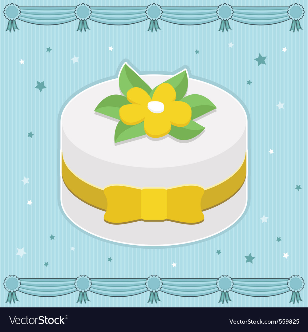 Decorated cake vector | Price: 3 Credit (USD $3)