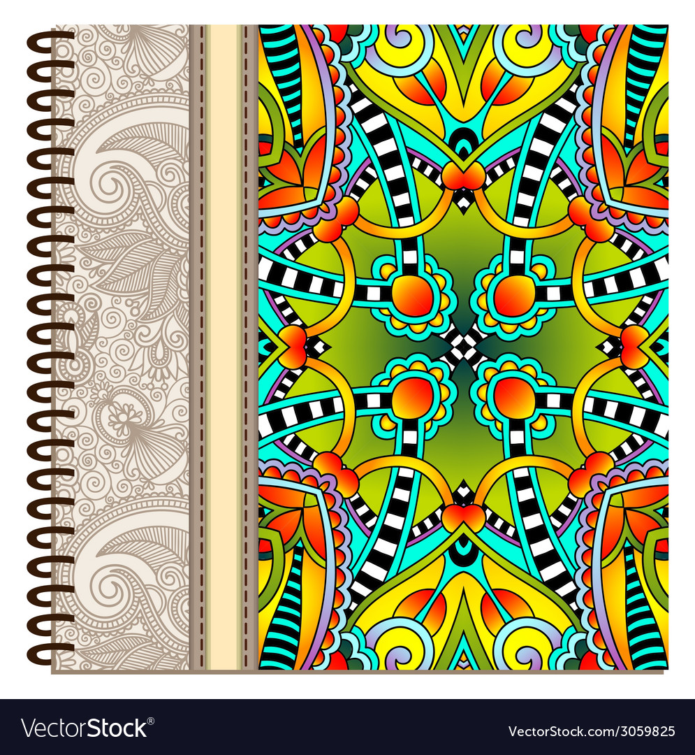 Design of spiral ornamental notebook cover vector | Price: 1 Credit (USD $1)
