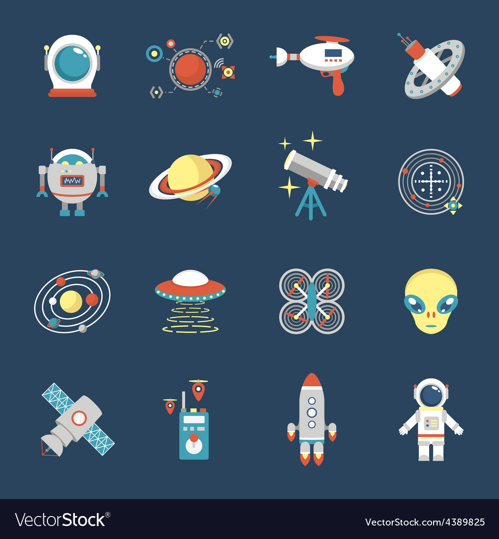 Fiction icon set vector | Price: 1 Credit (USD $1)