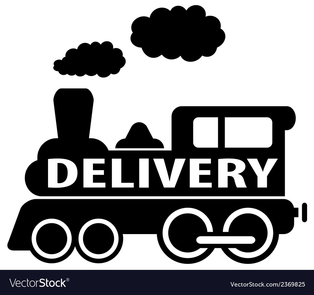Isolated black delivery train vector | Price: 1 Credit (USD $1)