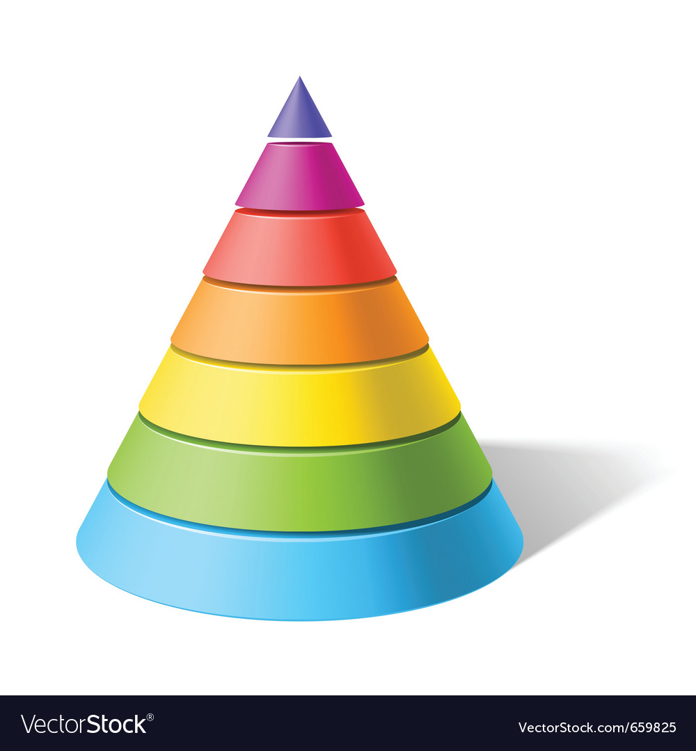Layered cone vector | Price: 1 Credit (USD $1)