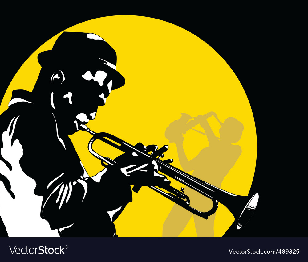 Moon jazz vector | Price: 1 Credit (USD $1)
