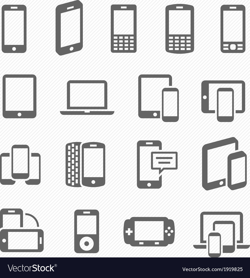 Responsive design icons vector | Price: 1 Credit (USD $1)