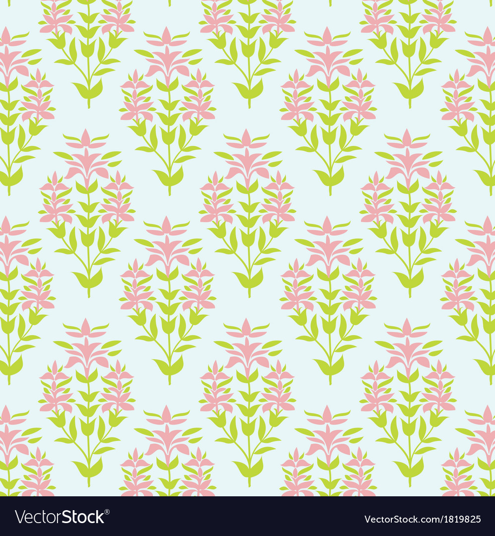 Seamless floral texture background with lily vector | Price: 1 Credit (USD $1)