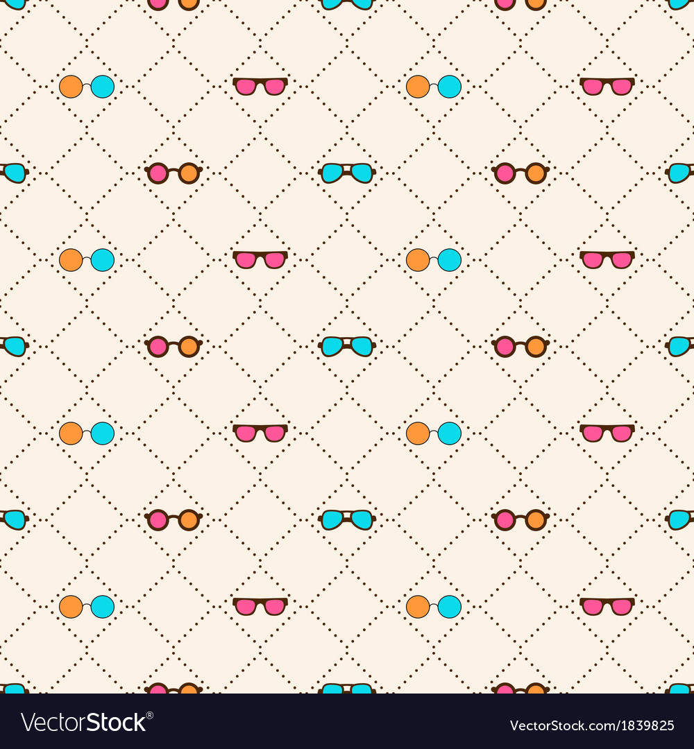 Seamless pattern with color sun glasses vector | Price: 1 Credit (USD $1)