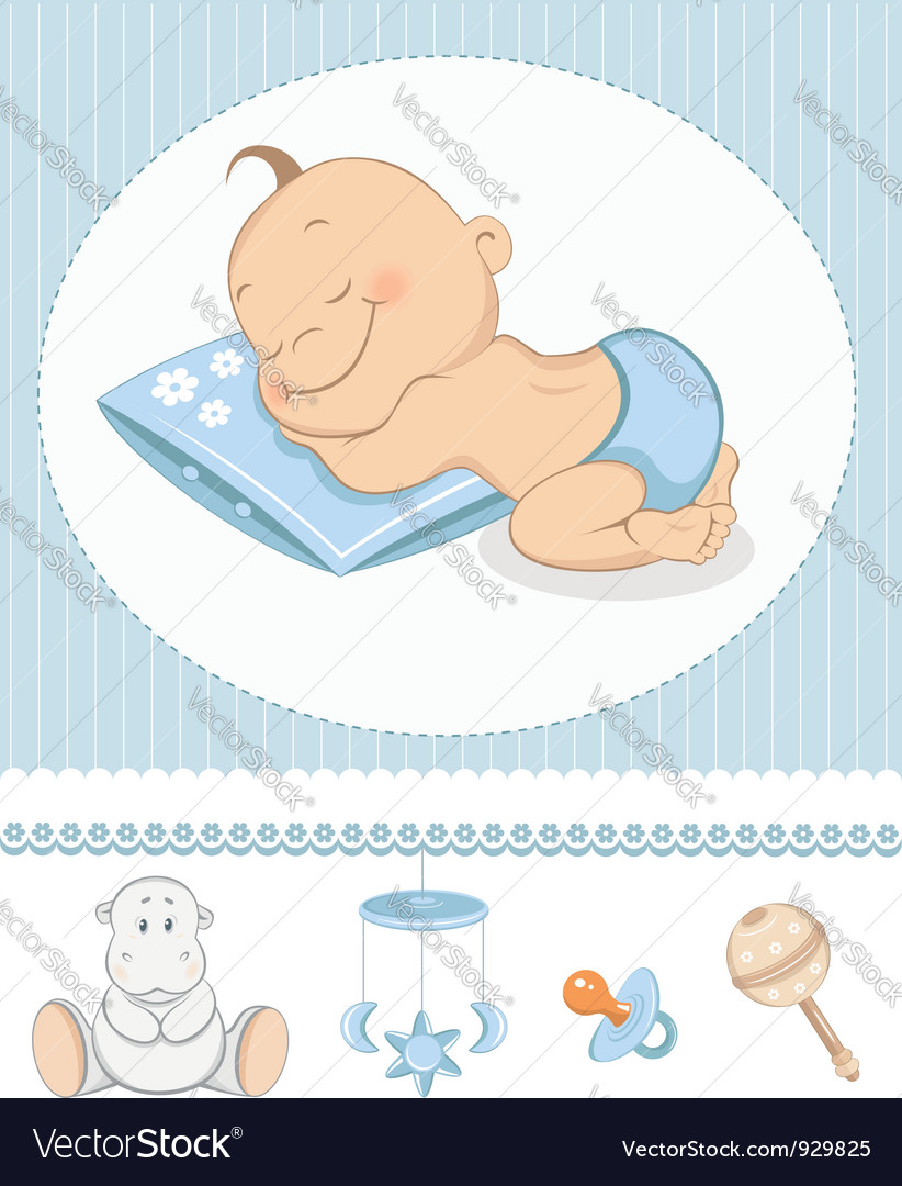 Sleeping boy arrival vector | Price: 1 Credit (USD $1)