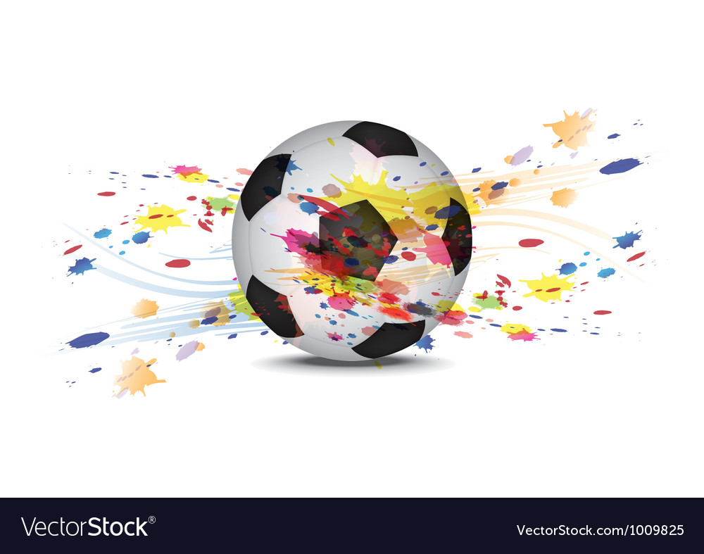Soccer ball and ink splatter background design vector | Price: 1 Credit (USD $1)