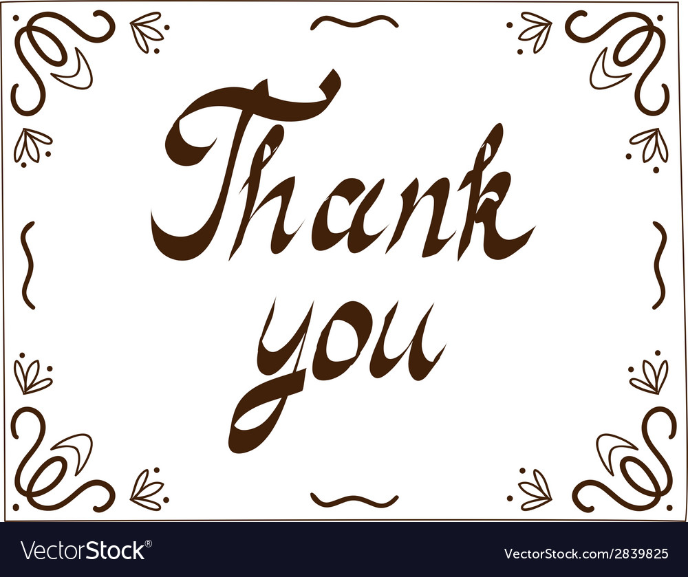 Thank you card template vector | Price: 1 Credit (USD $1)