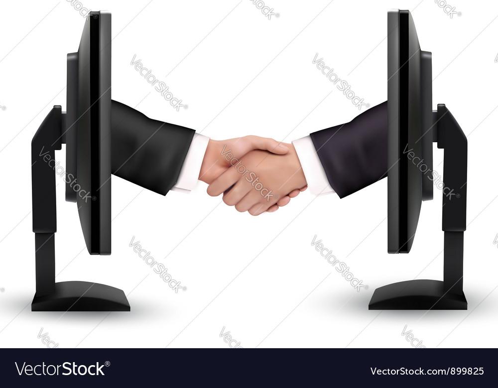 Virtual handshake vector | Price: 3 Credit (USD $3)
