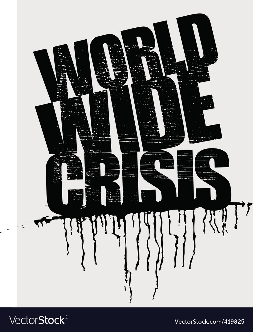 World wide crisis headline vector | Price: 1 Credit (USD $1)