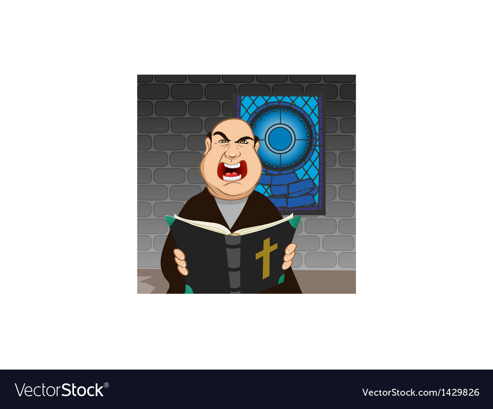 Angry priest vector   Price: 3 Credit (USD $3)