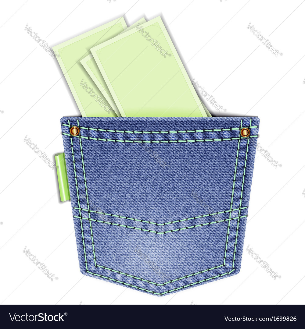 Back pocket vector | Price: 1 Credit (USD $1)
