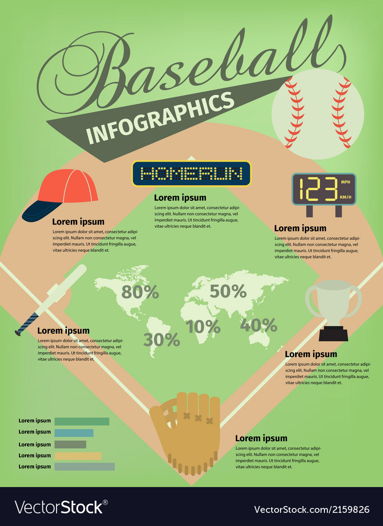 Baseball infographic vector | Price: 1 Credit (USD $1)