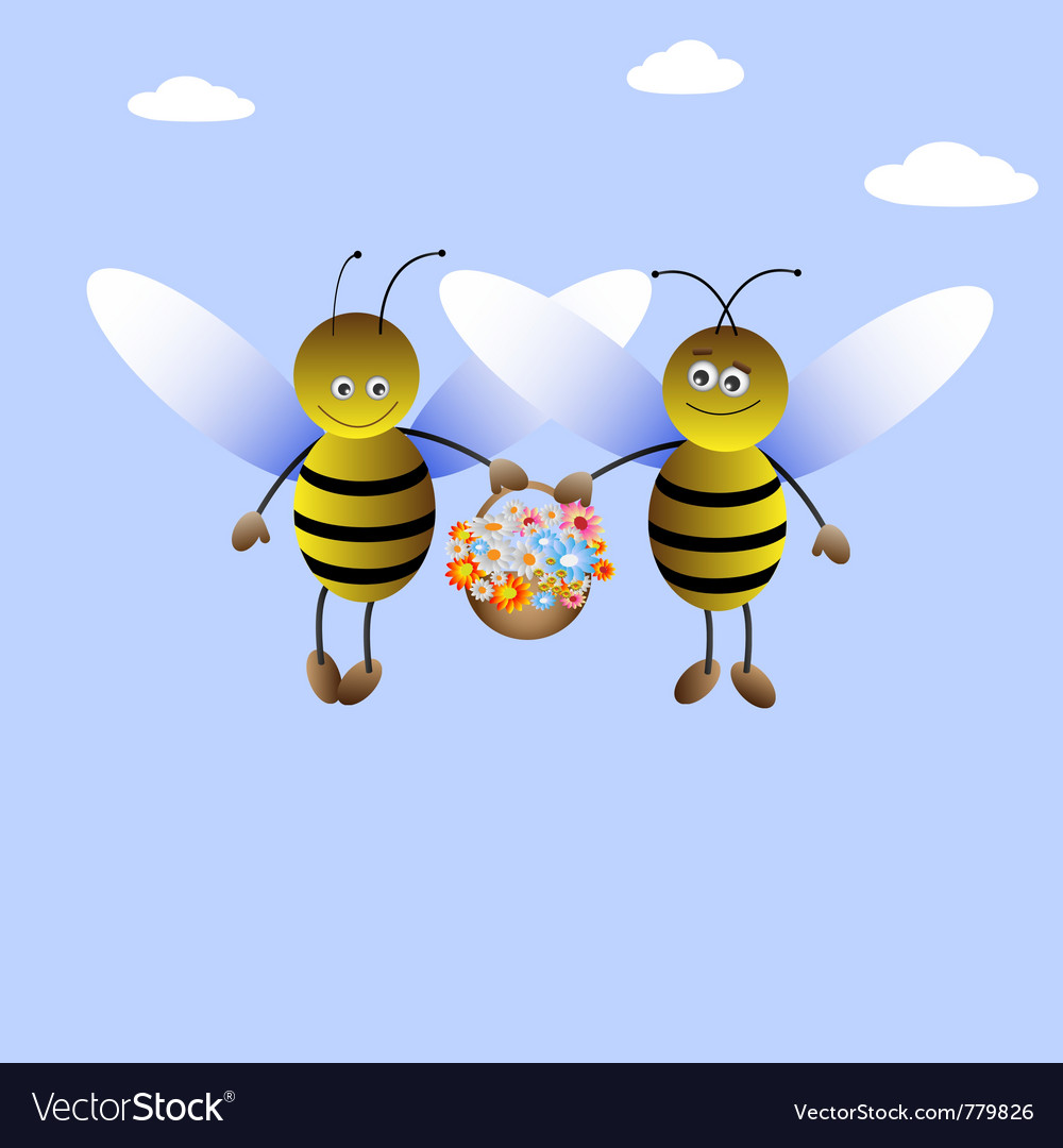 Bee-boy and bee-girl vector | Price: 1 Credit (USD $1)
