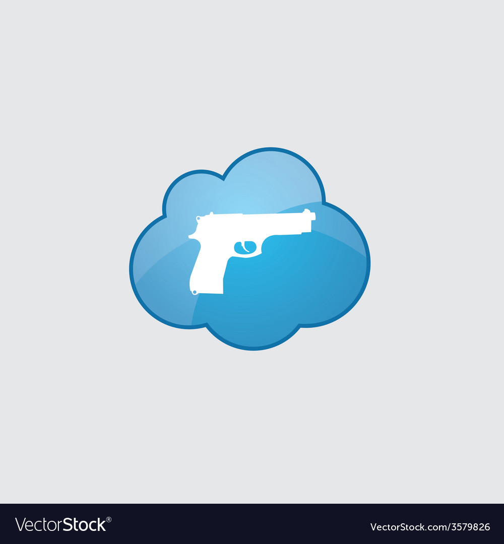 Blue cloud gun icon vector | Price: 1 Credit (USD $1)