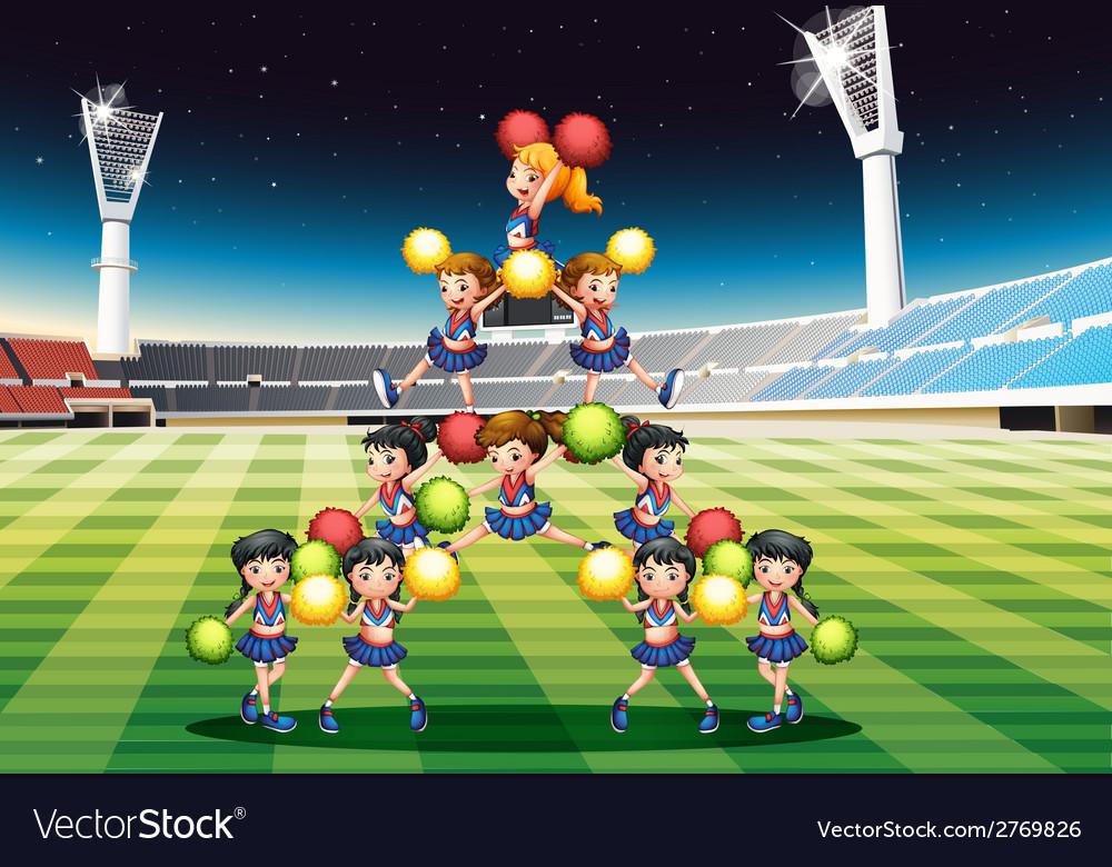 Cheerleading team vector | Price: 1 Credit (USD $1)