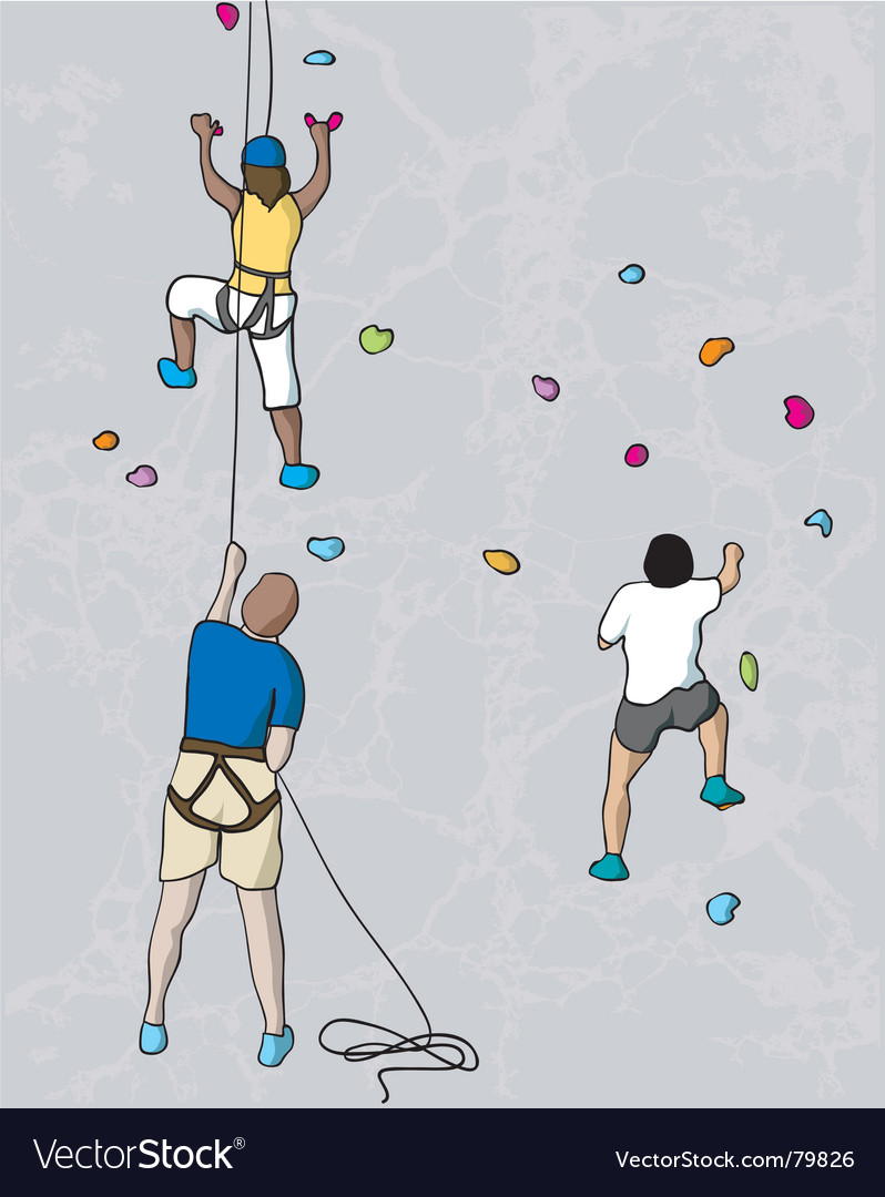 Climbers vector | Price: 1 Credit (USD $1)