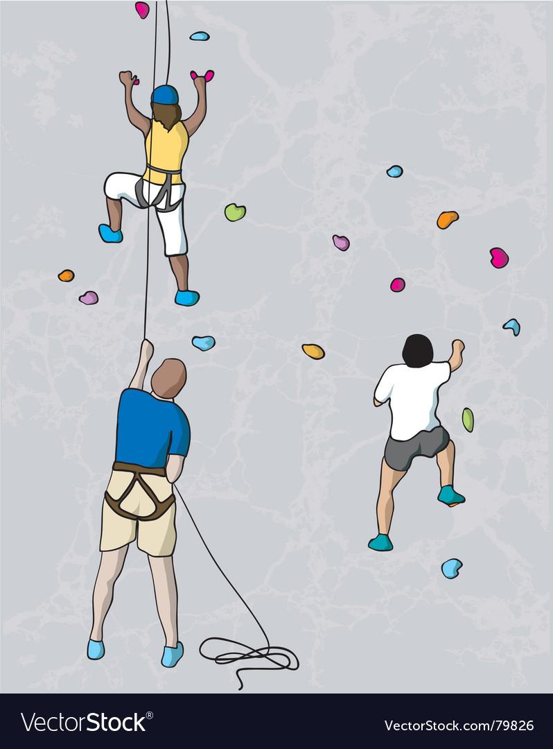 Climbers vector | Price: 1 Credit (USD $1)