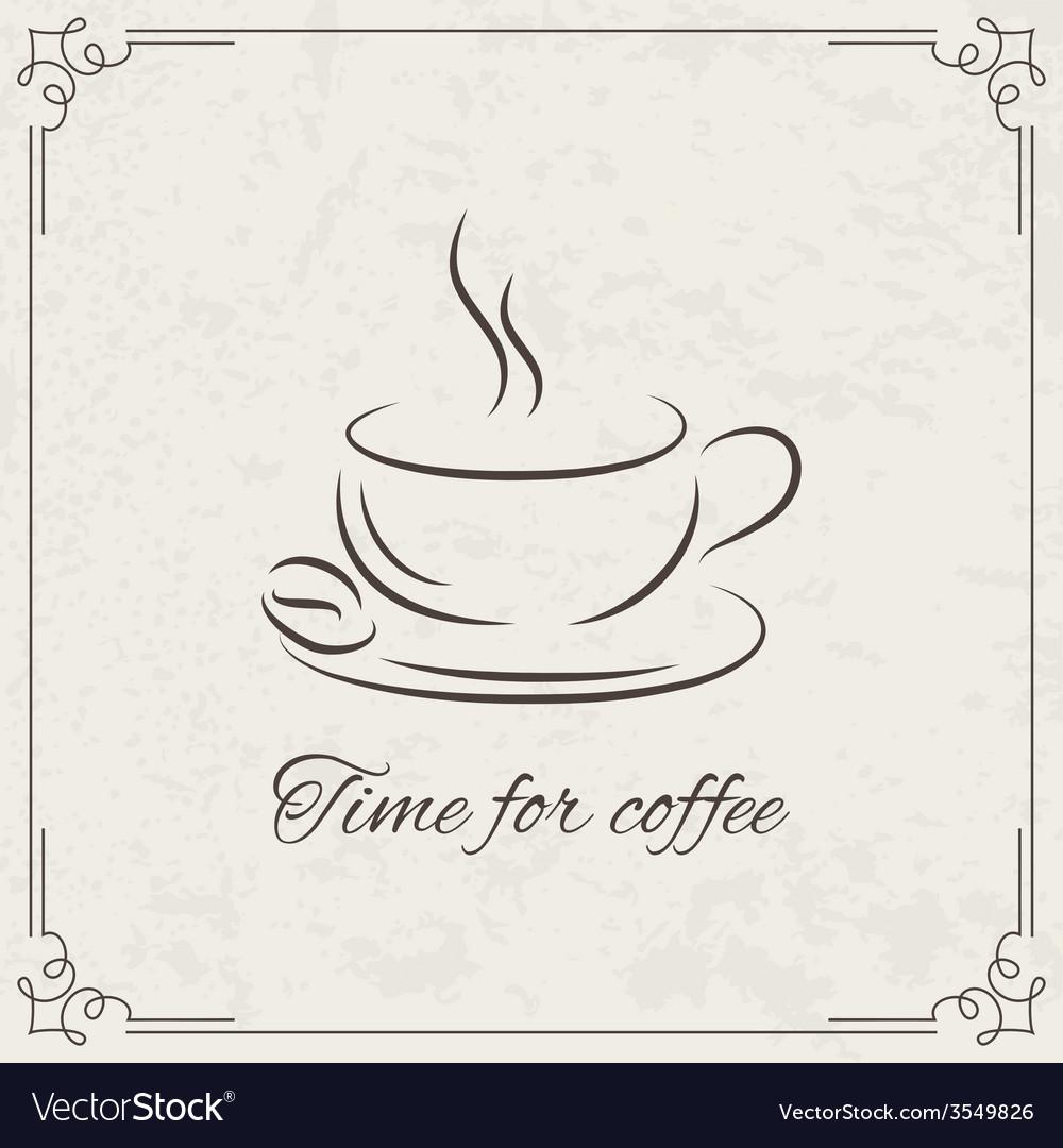 Coffee design for menu vector | Price: 1 Credit (USD $1)
