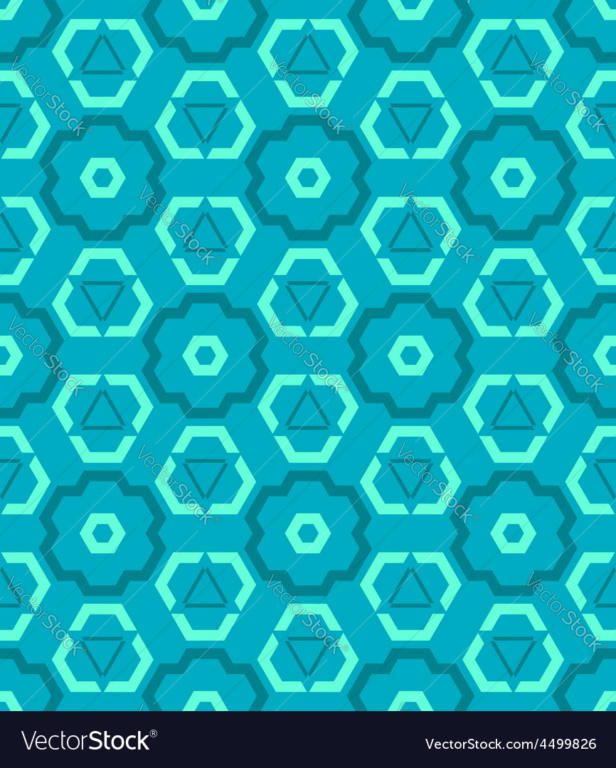 Cyan blue green color abstract geometric seamless vector | Price: 1 Credit (USD $1)