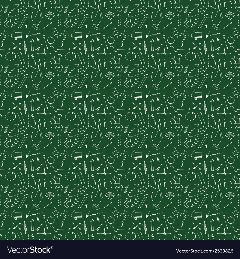 Hand drawn arrows and lines seamless pattern vector | Price: 1 Credit (USD $1)