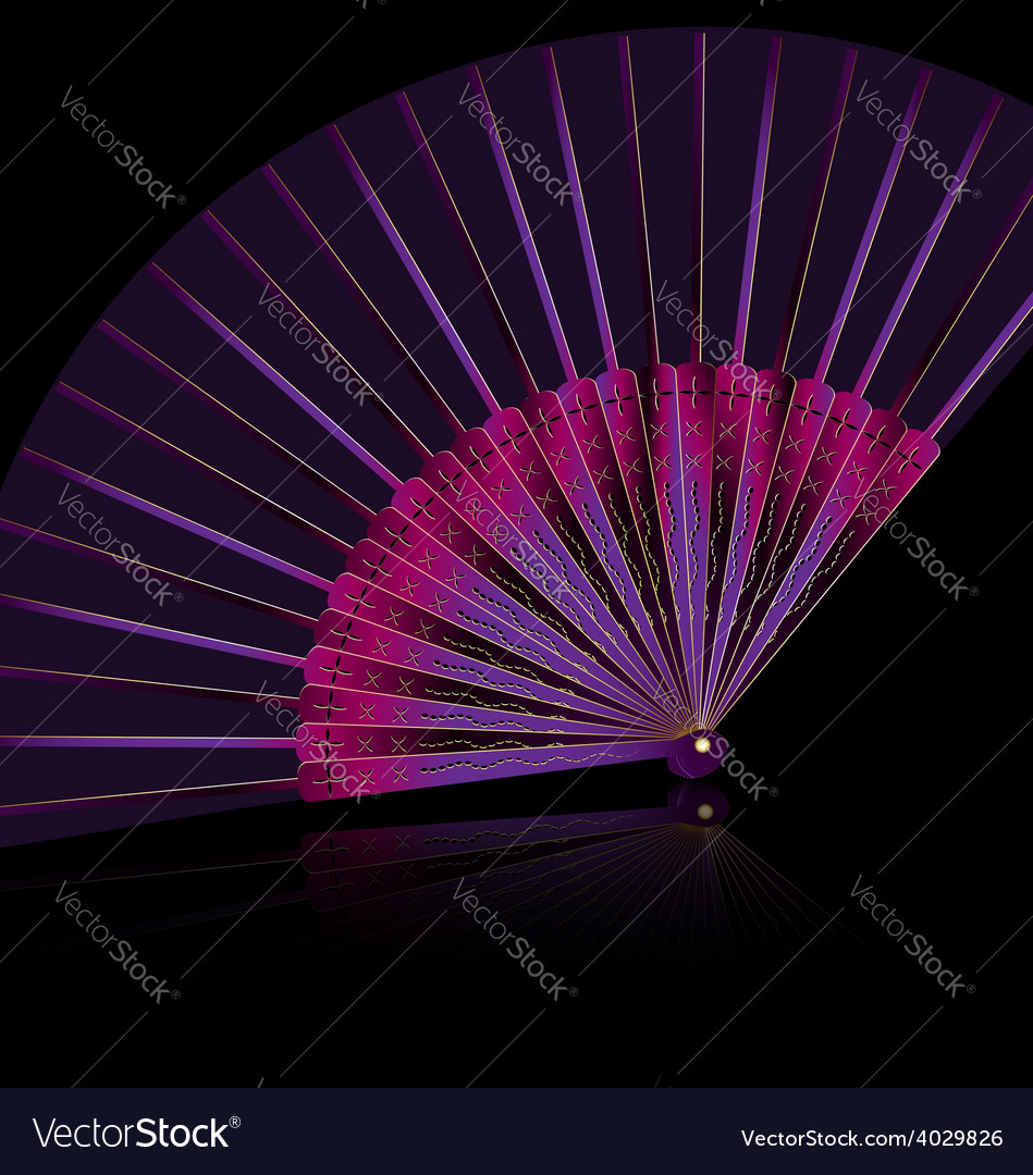 Purple fan vector | Price: 1 Credit (USD $1)
