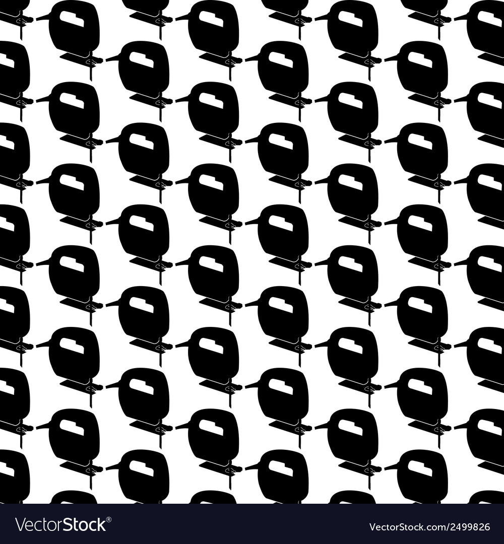 Seamless pattern background of bow saw vector | Price: 1 Credit (USD $1)