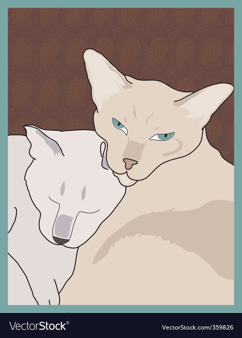 Siamese cats vector | Price: 1 Credit (USD $1)