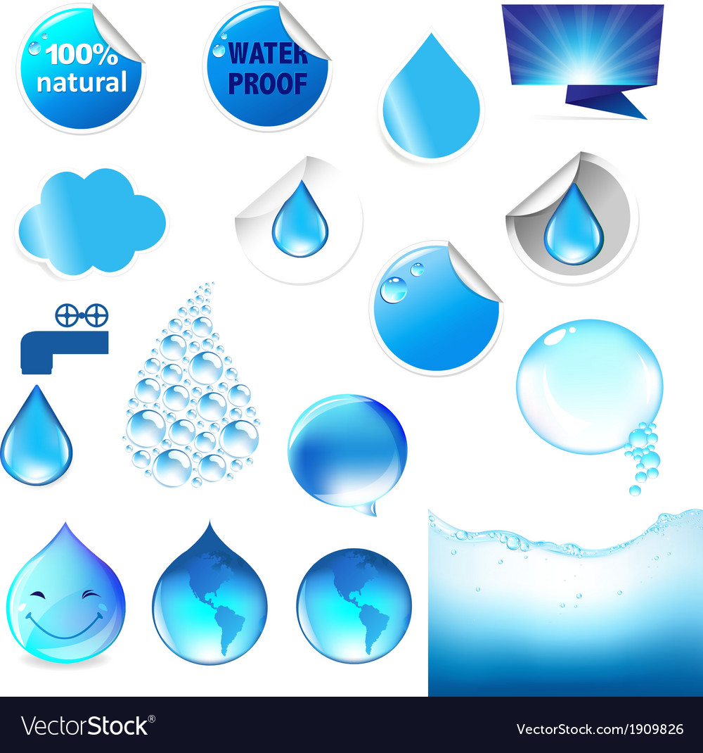 Water symbol big set vector | Price: 1 Credit (USD $1)