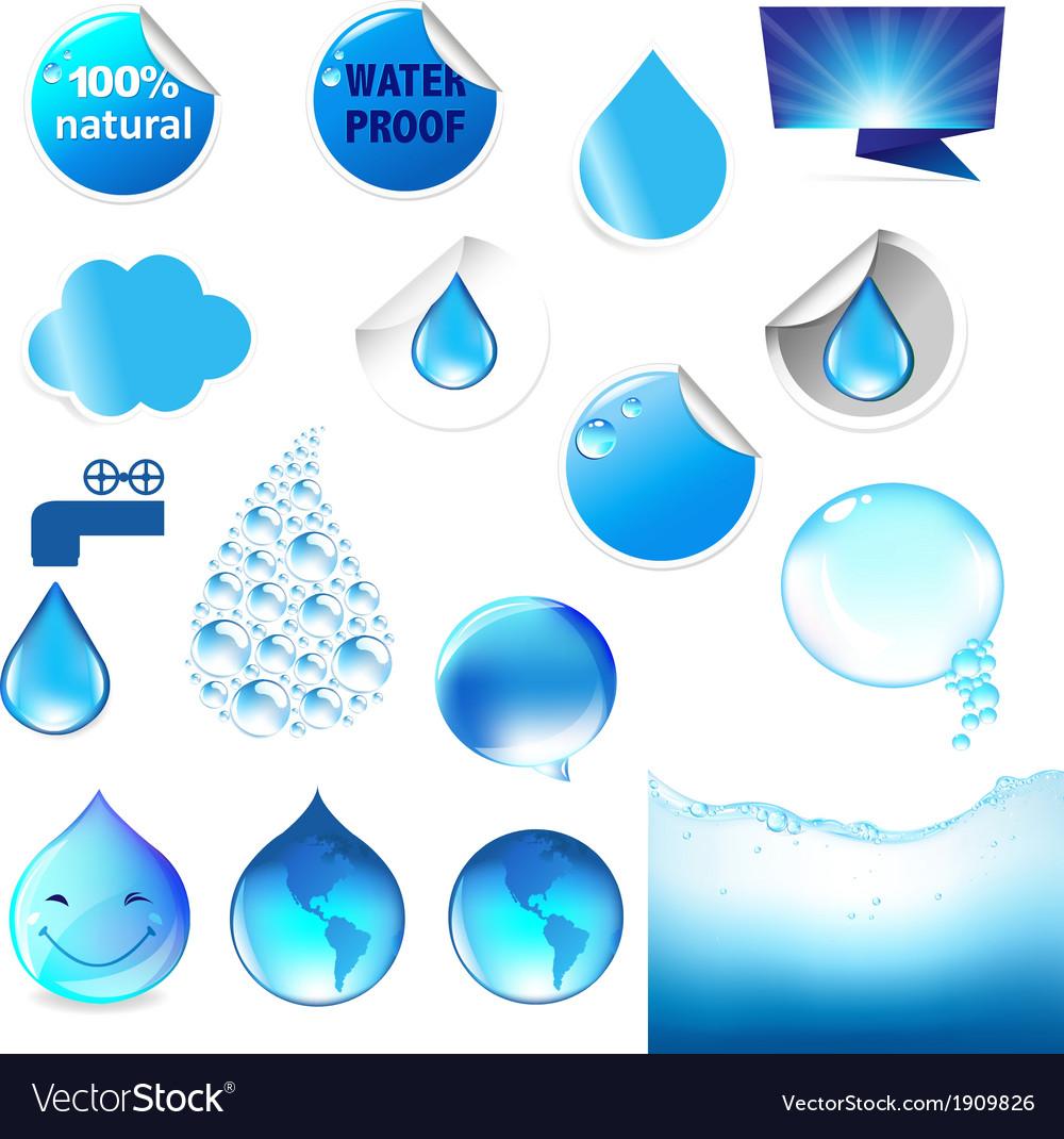 Water symbol big set vector | Price: 1 Credit (USD $1)