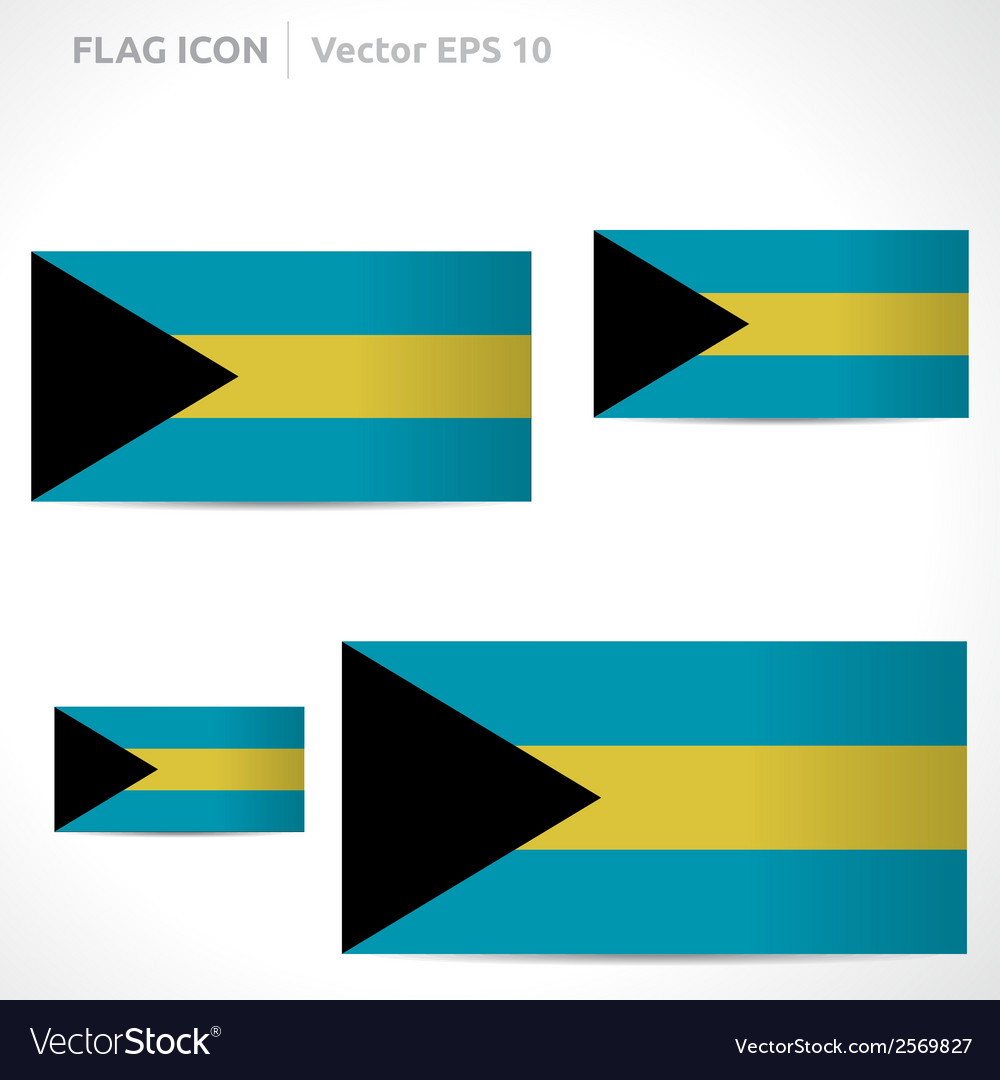 Bahamas flag template vector | Price: 1 Credit (USD $1)