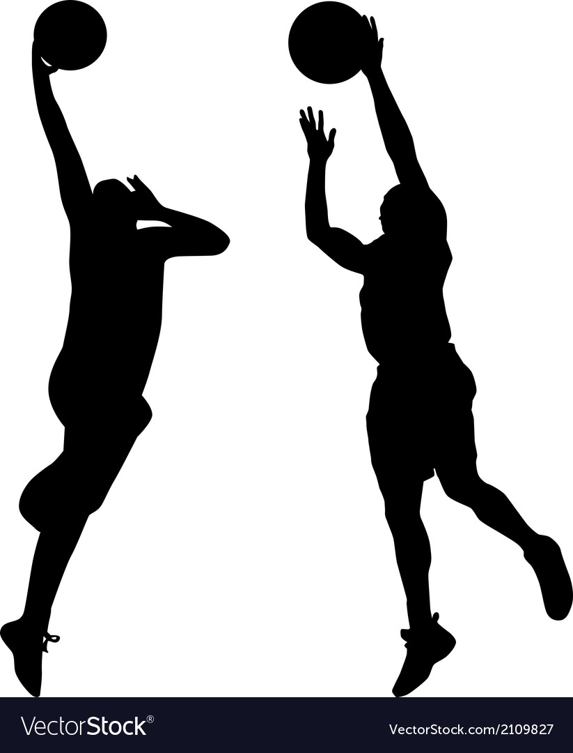 Basketball player silhouette vector | Price: 1 Credit (USD $1)