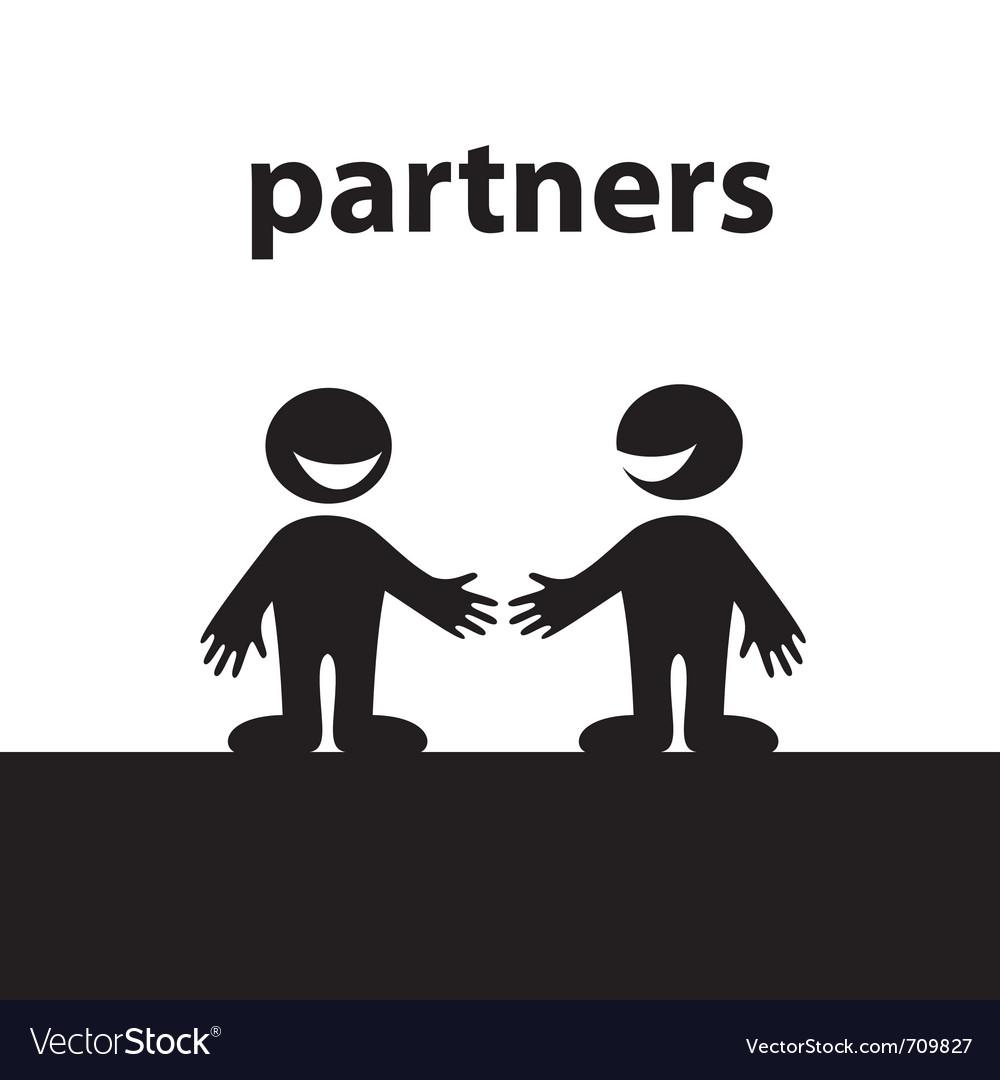 Business handshakes vector | Price: 1 Credit (USD $1)