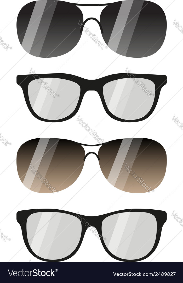 Glasses and sunglasses set vector | Price: 1 Credit (USD $1)