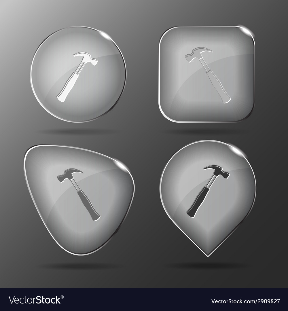 Hammer glass buttons vector | Price: 1 Credit (USD $1)