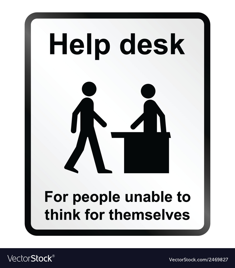 Help desk information sign vector | Price: 1 Credit (USD $1)