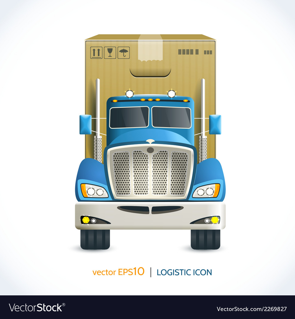 Logistic icon truck vector | Price: 1 Credit (USD $1)