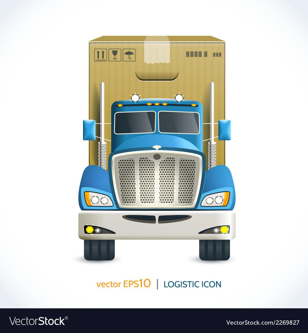 Logistic icon truck vector   Price: 1 Credit (USD $1)