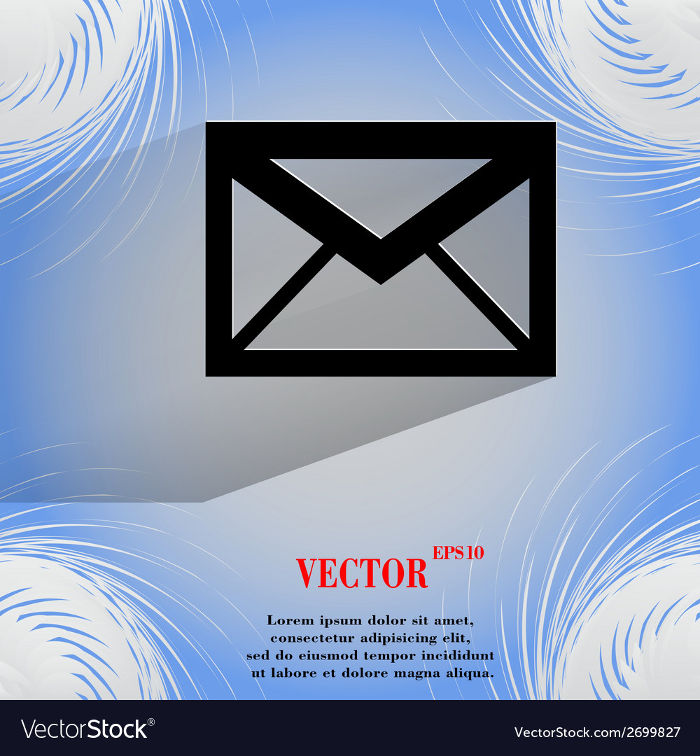 Mail envelope flat modern web design on a flat vector   Price: 1 Credit (USD $1)