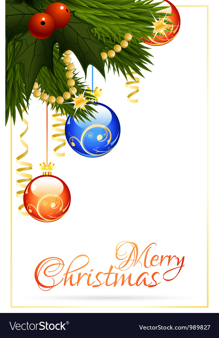 Merry christmas greeting card vector | Price: 3 Credit (USD $3)