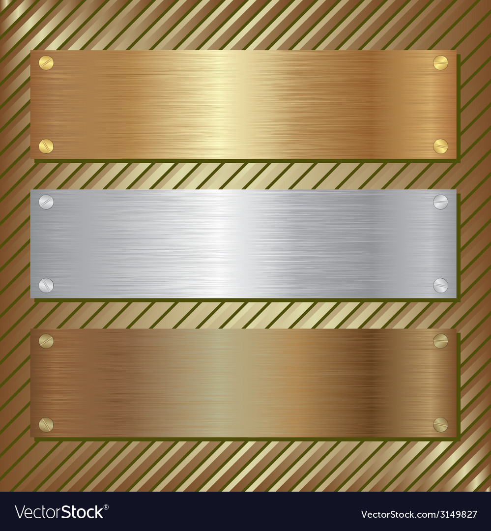 Metallic plate vector | Price: 1 Credit (USD $1)