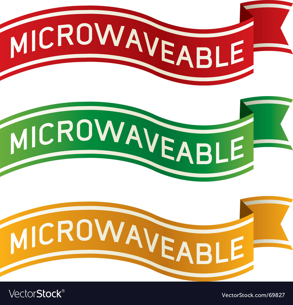 Microwaveable package label vector | Price: 1 Credit (USD $1)