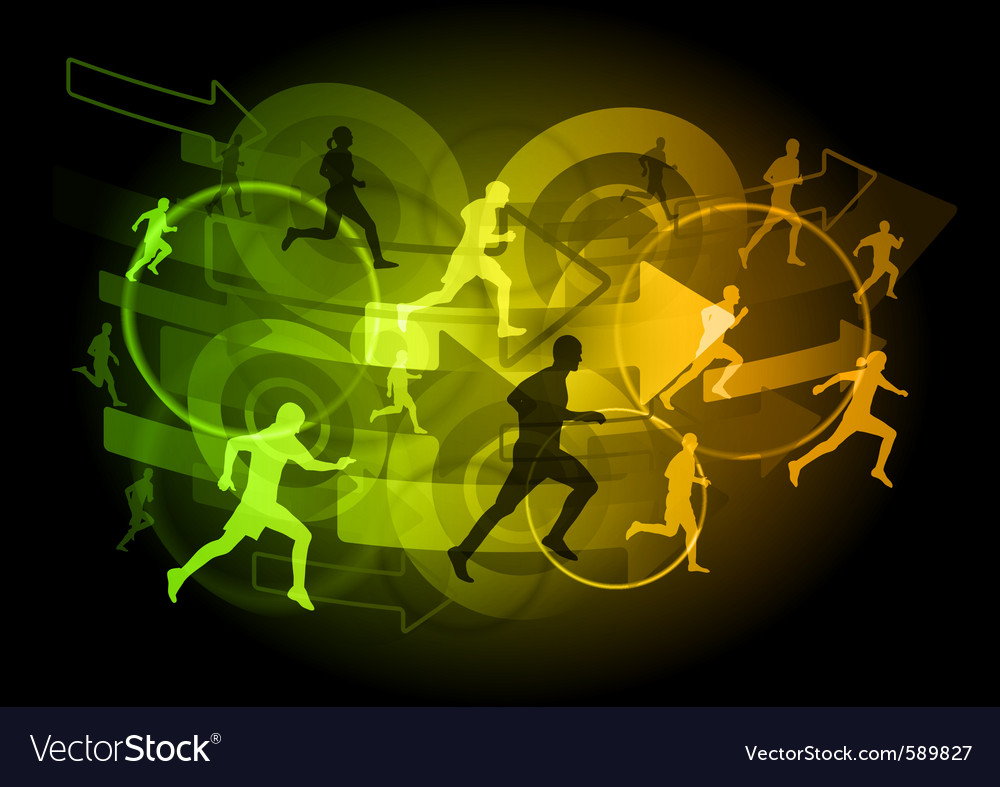 Modern runners vector | Price: 1 Credit (USD $1)
