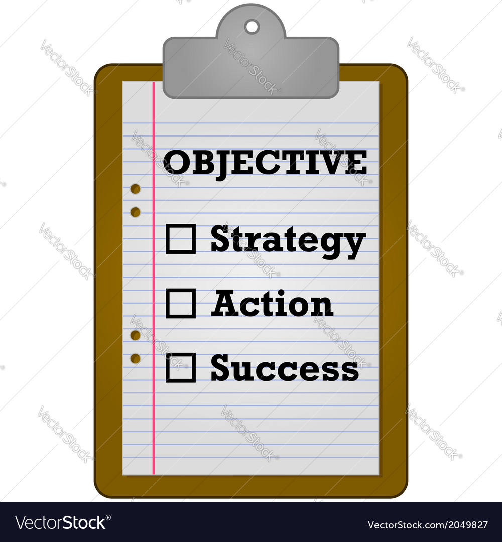Objective checklist vector | Price: 1 Credit (USD $1)