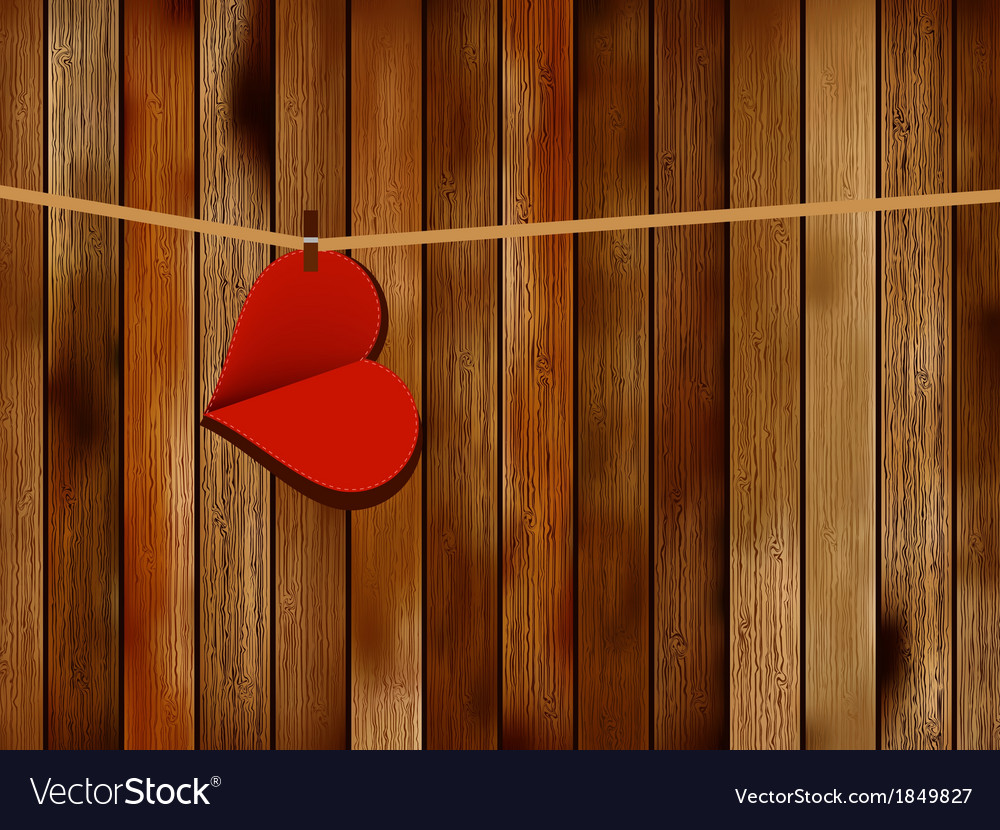 Red paper heart hanging  eps10 vector | Price: 1 Credit (USD $1)